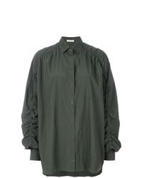 Blusa de manga larga verde oliva de Tomas Maier