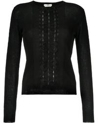 Blusa de punto negra de Fendi