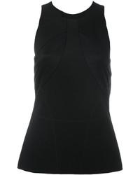 Blusa de Satén Negra de Versace