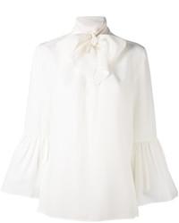 Blusa de seda blanca de Fendi
