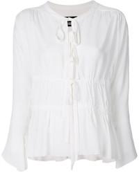Blusa de seda blanca de Moschino