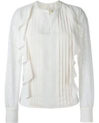 Blusa de seda con volante blanca de See by Chloe