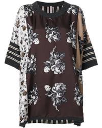 Blusa de seda en marrón oscuro de Antonio Marras
