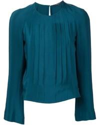 Blusa de Seda en Verde Azulado de Derek Lam