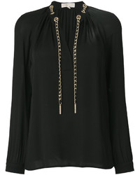 Blusa de seda negra de MICHAEL Michael Kors