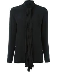 Blusa de Seda Negra de Versace