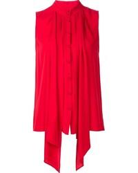 Blusa de Seda Roja de Derek Lam