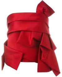 Blusa de Seda Roja de Dsquared2