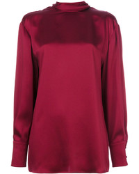 Blusa de Seda Roja de Valentino