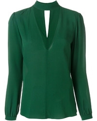 Blusa de Seda Verde de A.L.C.