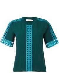 Blusa en verde azulado de Tory Burch