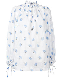 Blusa estampada blanca de Alexander McQueen