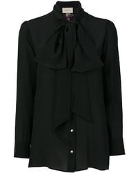 Blusa estampada negra de Gucci