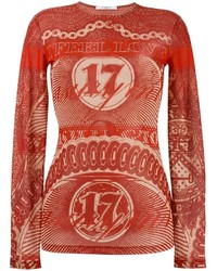 Blusa estampada roja de Givenchy