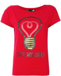 Blusa estampada roja de Love Moschino