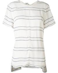 Blusa ligera de rayas horizontales blanca de Proenza Schouler