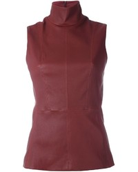 Blusa roja de Thierry Mugler