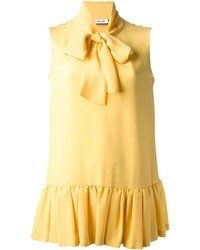 Blusa sin mangas amarilla de Moschino