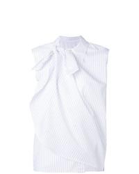 Blusa sin mangas blanca de MM6 MAISON MARGIELA