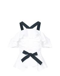 Blusa sin mangas con ojete blanca de Derek Lam 10 Crosby