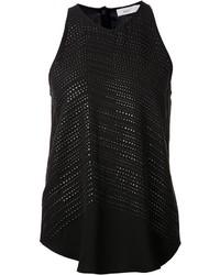 Blusa sin mangas con tachuelas negra de A.L.C.