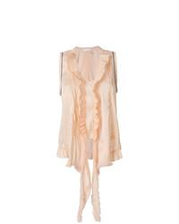Blusa sin mangas con volante rosada de Chloé