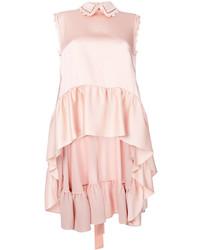 Blusa sin mangas con volante rosada de Fendi