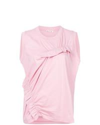 Blusa sin mangas con volante rosada de Marni