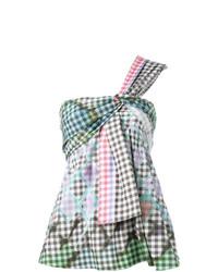 Blusa sin mangas de cuadro vichy en multicolor de Peter Pilotto