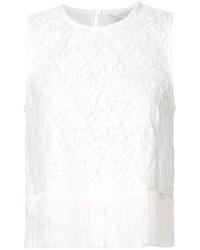 Blusa sin mangas de encaje blanca de Derek Lam 10 Crosby