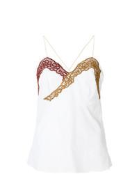 Blusa sin mangas de encaje blanca de Marco De Vincenzo