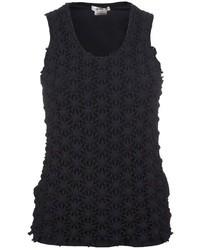 Blusa sin mangas de encaje negra de Comme des Garcons