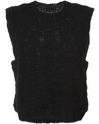 Blusa sin mangas de lana de punto negra de Derek Lam
