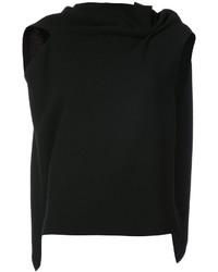 Blusa sin mangas de lana de punto negra de Roland Mouret