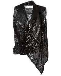 Blusa sin mangas de lentejuelas negra de Victoria Beckham