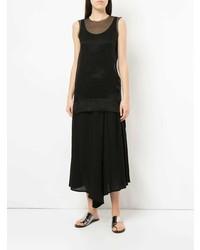 Blusa sin mangas de malla negra de Uma Wang