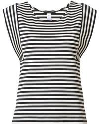 Blusa sin mangas de rayas horizontales en blanco y negro de Derek Lam