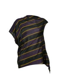 Blusa sin mangas de rayas horizontales negra de 08sircus