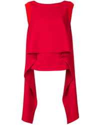 Blusa sin mangas de seda roja de Givenchy