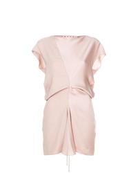 Blusa sin mangas de seda rosada de Marni