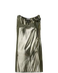 Blusa sin mangas dorada de Lanvin