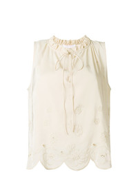 Blusa sin mangas en beige de See by Chloe