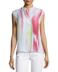Blusa sin mangas en multicolor