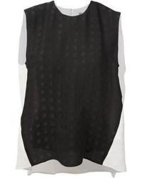 Blusa sin mangas en negro y blanco de Kenzo