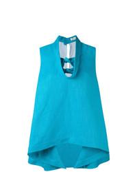 Blusa sin mangas en turquesa de DELPOZO
