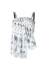 Blusa sin mangas estampada blanca de Anne Sofie Madsen