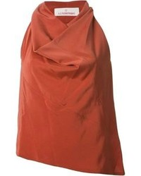 Blusa sin mangas naranja