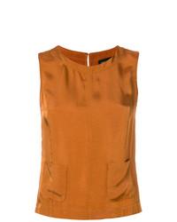 Blusa sin mangas naranja de Roberto Collina
