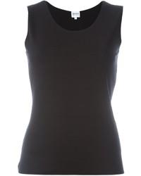 Blusa sin mangas negra de Armani Collezioni