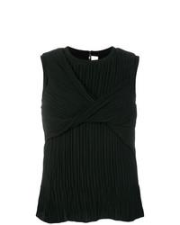 Blusa sin mangas negra de Victoria Victoria Beckham
